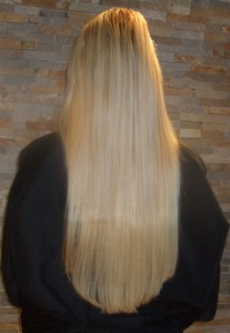These straight hair extensions blend into the hair perfectly