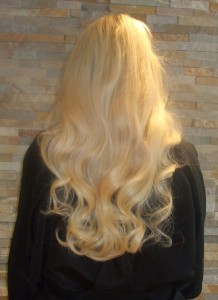 Hair extensions can be curled and styled just like your own hair
